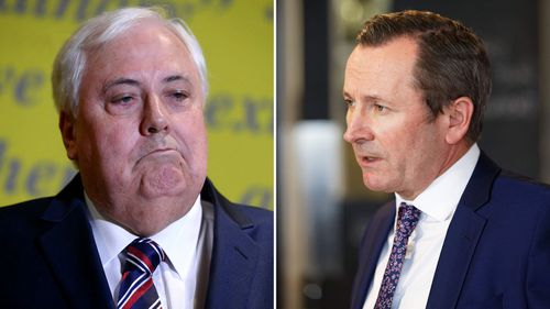 Clive Palmer and Mark McGowan.