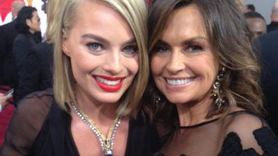 Aussie actress Margo Robbie with TODAY host Lisa Wilkinson. (Twitter)