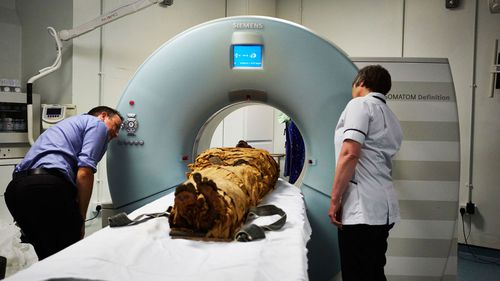 The mummy underwent a CT scan at Leeds General Infirmary as part of the study.