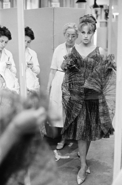 Jeanne Moreau at the Chanel boutique in Paris, in 1960.