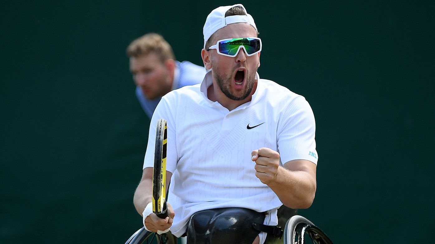 Aussie Dylan Alcott on the cusp of rare Wimbledon feat in history-making event