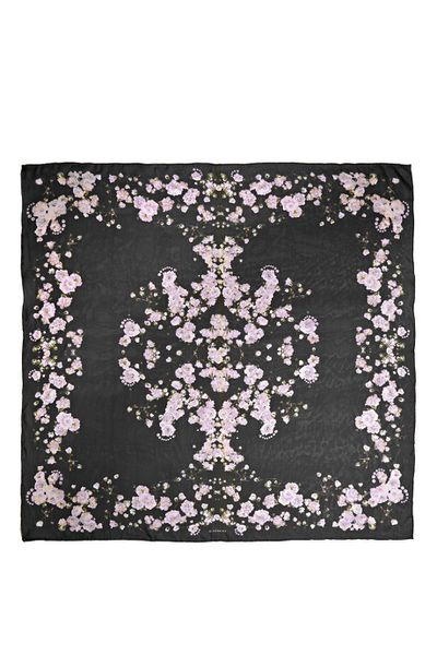 "<a href=""http://www.net-a-porter.com/product/588098/Givenchy/square-scarf-140cm-x-140cm-baby-s-breath"" target=""_blank"">Scarf, $443.02, Givenchy at net-a-porter.com</a>"