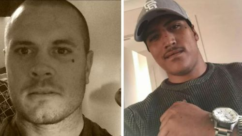 Daytona James Paul (left) and Aaron Davis (right) have been identified as the two men shot at a Caboolture apartment complex over the weekend.