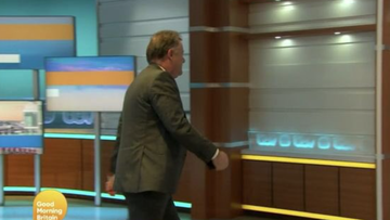 Piers Morgan stormed off the set of Good Morning Britain during a discussion about Prince Harry and Meghan.