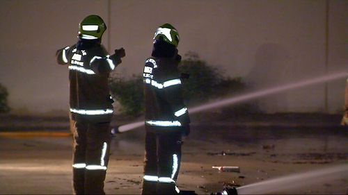 Fire crews were forced to return in the early hours of the morning, working to extinguish the new blaze.