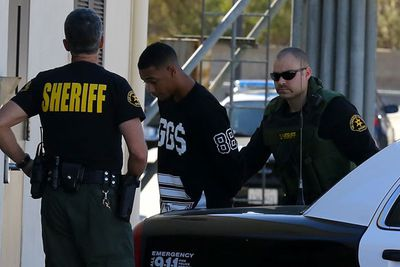 ...and by something, we mean JB's pal Lil Za. A rep for the LA County Sheriff's Dept. confirmed his arrest for felony drug possession after finding cocaine in full view! Lil Za spent the day at the Lost Hills/Malibu Sheriff's station, where he was also charged with felony vandalism after destroying a phone in his holding cell. As you do. <br/><br/><br/>