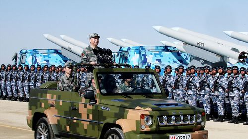 China puts on show of military might