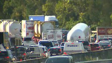 Man dies after being hit by truck on motorway