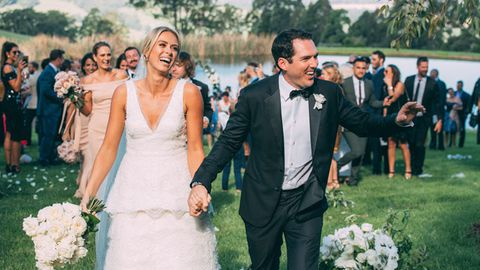 The wedding of Sylvia Jeffreys and Peter Stefanovic.