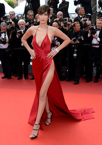 <p>If you needed any more proof that Bella Hadid is red hot, this is it. <br /> <br /> The model of the moment dropped jaws last night when she hit the premiere for&nbsp;<em>The Unknown Girl </em>in Cannes. In an Alexandre Vauthier dress that showed off all her best features, Bella proved she's a rising star in her own right. Gigi who?</p> <p>Click through to see the other best-dressed celebrity ensembles.</p>