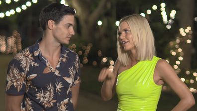 Sam Withers and Sophie Monk on Love Island Australia