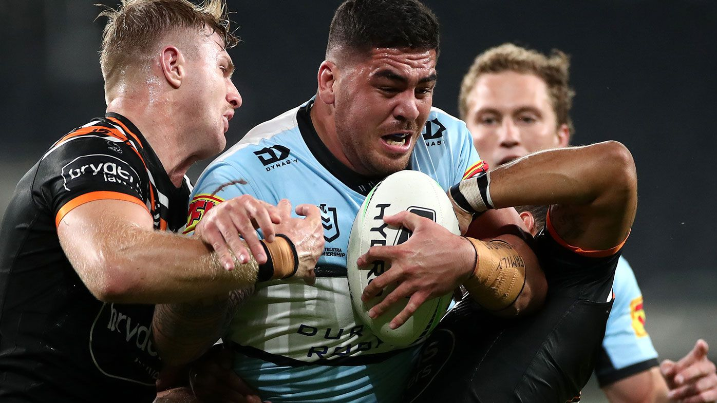 Brad Fittler has issued the Sharks' forward pack a wake-up call