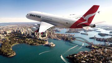 Qantas plane.