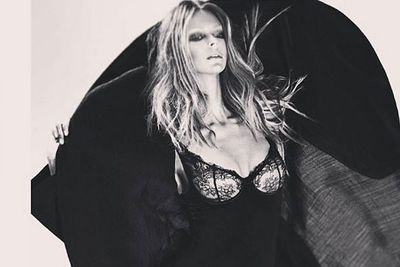 Scorching! Even with bleached brows, Jen Hawkins looks super-sexy in sheer lace for Lovable lingerie. <br><br>Posting the pic on Facebook, the sun-kissed babe said: 'Lovable bleached eyebrows... sickkkk shoot!' Sick shoot indeed, Jen.