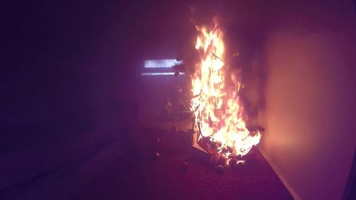 Christmas tree lights could be a fire hazard.