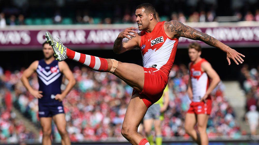 Buddy kicks four in Swans' huge AFL win