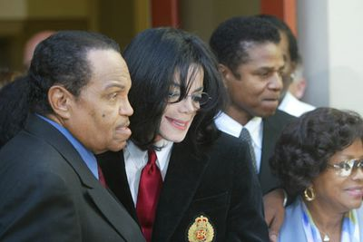 """<b>Father of Michael, Jackie, Tito, Jermaine, Janet, Latoya and all those other Jacksons</b><p><br/> Jo pushed Michael and his Jackson 5 brothers so hard he's been accused of stealing their childhoods. Michael also accused his dad of beating him, to which Jo responded, """"I whipped him with a switch and a belt. I never beat him. You beat someone with a stick."""" <br/>"""
