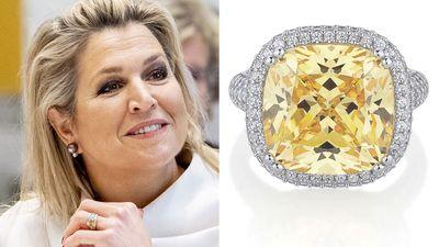 Queen Maxima's yellow diamond ring