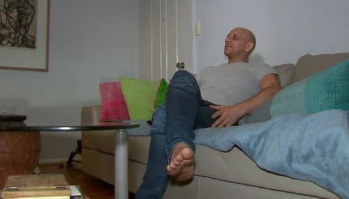 Public housing tenant Angelo Dallas says if he sees something he likes, he buys it. (ACA)