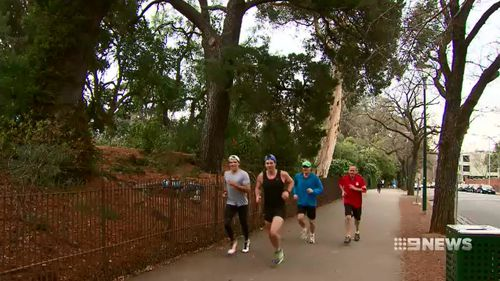 The trial text system urges people to exercise, suggests what they should be eating and includes medication time updates. Picture: 9NEWS.