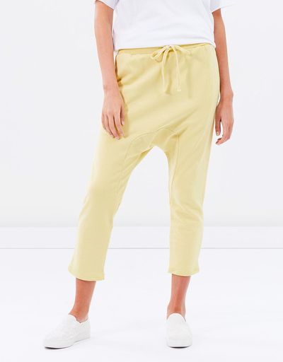 "<a href=""https://www.theiconic.com.au/chianti-drop-crotch-pants-474559.html"" target=""_blank"" draggable=""false"">C &amp; M Camilla and Marc Chianti Drop Crotch Pants in Citron, $99.50<br> </a><br> <br> <br>"