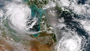 Satellite map of cyclones in northern Australia (Getty)