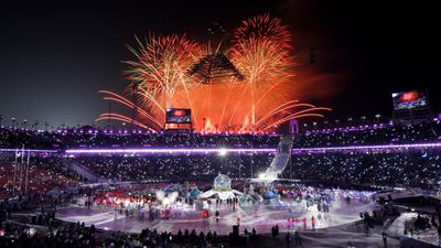 Attendees were treated to a fireworks display. (AAP)