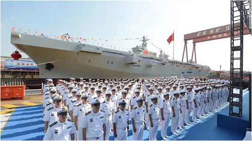 China has unveiled its new amphibious assault ship.