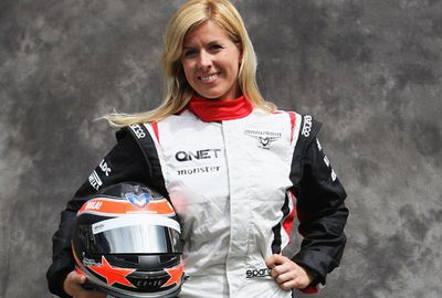 De Villota lost the sight in her right eye in a crash. (Getty)