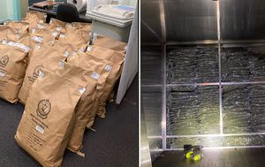 Men allegedly caught carrying 85 kilograms of cannabis in the back of a truck