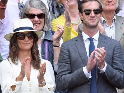 Proud parents, Pippa Middleton and James Matthews