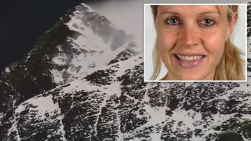 Maria Strydom (inset) died on Mount Everest. (9NEWS)