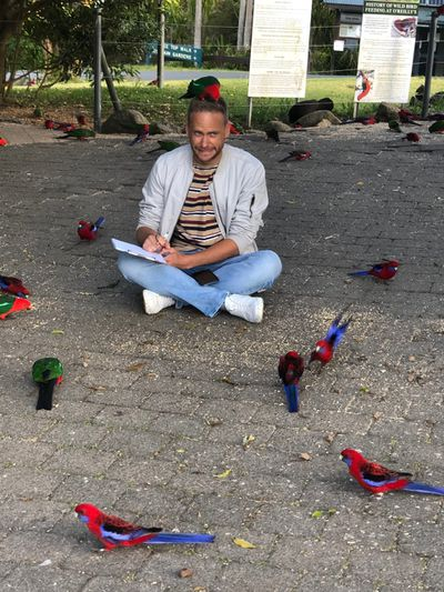 Breakfast with some birds