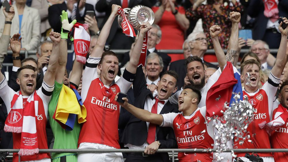 Arsenal won the FA Cup for the third time in four years. (AAP)