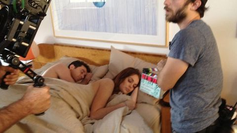 Lindsay Lohan in bed with porn star on the set of new film