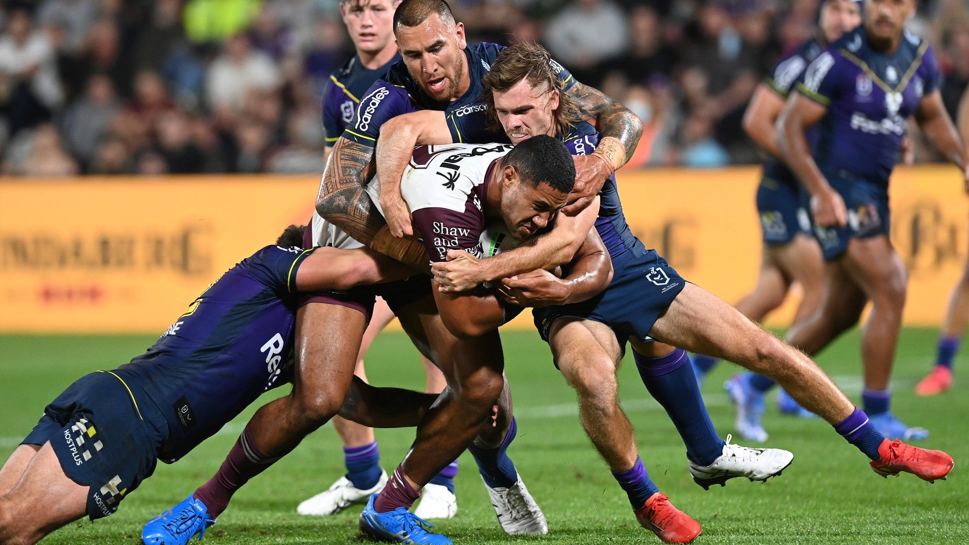 Inside eerie dressing room after Manly's heavy finals loss to Melbourne Storm