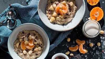 "Recipe:&nbsp;<a href=""http://kitchen.nine.com.au/2018/03/01/11/18/mixed-grain-and-mandarin-porridge"" target=""_top"" draggable=""false"">Mixed grain and mandarin porridge</a>"