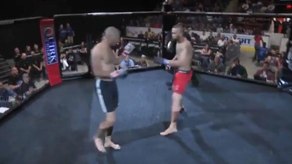 MMA fight over in three seconds