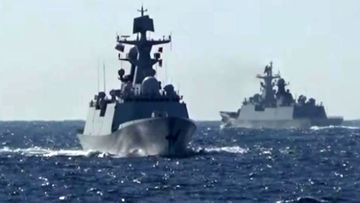 China and Russia hold first joint navy patrol