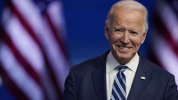 President-elect Joe Biden smiles as he speaks at The Queen theatre in Wilmington, Delaware (Photo: November 10, 2020)