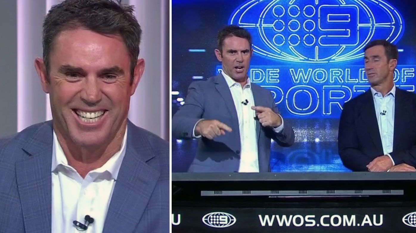 'Am I speaking over that?': Brad Fittler caught out by hilarious music mix-up