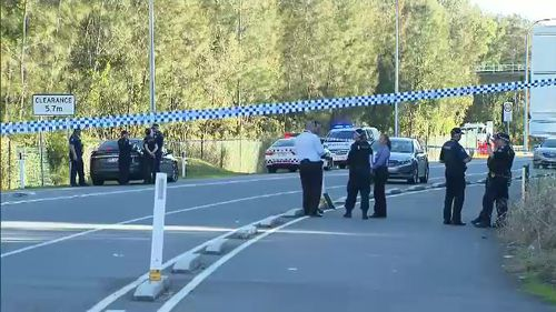 Police are now hunting the men, who are believed to be travelling in a gold or silver hatchback vehicle. Picture: 9NEWS.
