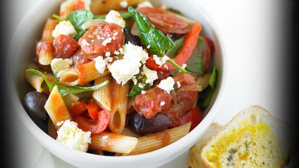 Sausage and tomato penne