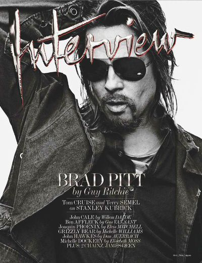 Brad Pitt,<em> Interview</em> Magazine Oct/Nov 2015