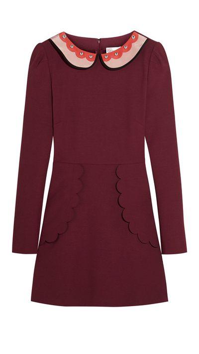 """<p><a href=""""http://www.net-a-porter.com/product/571522"""" target=""""_blank"""">Dress, $675.35, REDValentino at net-a-porter.com</a></p>"""