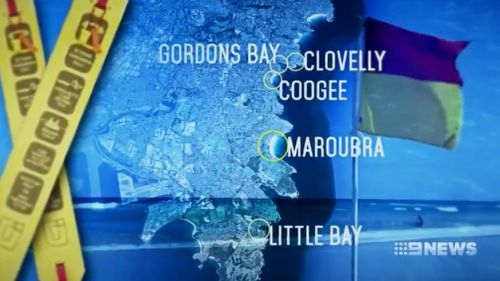 """Tui-tubes"" will be mounted at ten different beachfront locations across the state. (9NEWS)"