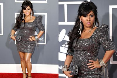 Dressing up for Snooki usually means two things: an extra-puffy pout and sequins upon sequins. <br/><br/>At least she's staying true to her meatball self, right FIXers?