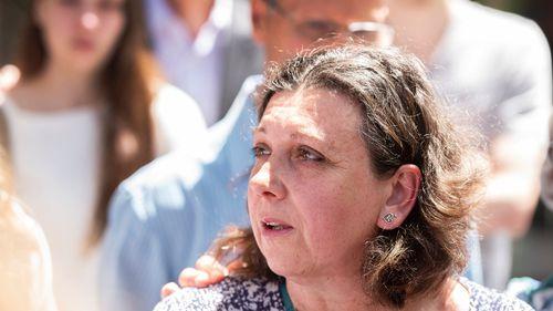 Ms Di Donato's mother, Elena, outside court today.