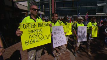 'Out of pocket $5 million': Workers protest building company