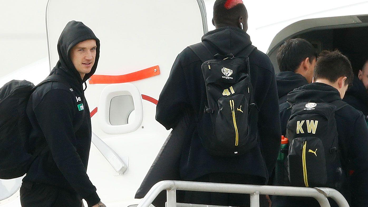 Dustin Martin, Richmond leave for AFL hub
